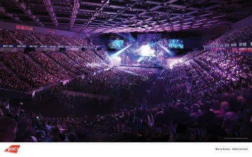 Salle de concert de Bercy Arena: vue globale