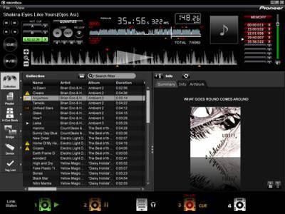 interface logiciel pioneer dj rekordbox