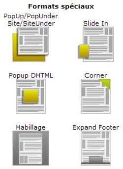 Publicités. Blocage des espaces publicitaires sur internet